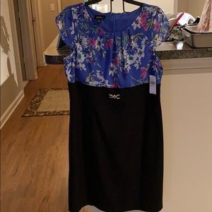 Brand New Floral and Black Formal Dress!